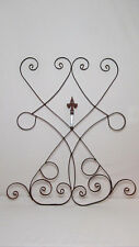Iron Wall Garden Fence Outdoor Decor Fleur de Lis Scrolls Vine Metal