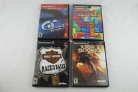 PlayStation 2 PS2 Game Lot Bundle of 4 Games Tetris Fire Blade Gran Turismo 3