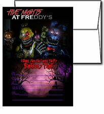 12 Five Night at Freddy's Invitation Cards (12 White Envelops Included) #2