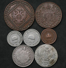 1800-1910 monedas de Austria & Hungría incl plateado y algunas fechas clave relleno de 2, 10, 20