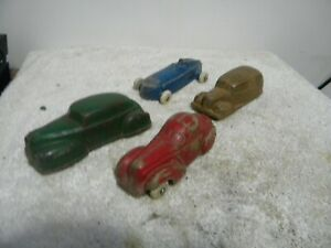 VINTAGE LOT OF SUN RUBBER CO TOY CARS