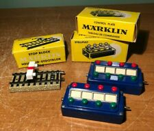 MARKLIN HO M TRACK STOP BLOCK 7190 & CONTROL PLATE/ PANEL 7072 x 2 IN BOXES