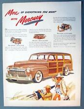 10x14 Original 1947 Mercury Wagon Ad MORE FASHIONABLE, MORE ROOM, MORE PRACTICAL