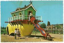 Wooden Shoe Slide Dutch Village Holland MI Michigan  Postcard