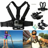 Chest Strap Harness Mount Adjustable + 2x J Hook GoPro HD Hero 1 2 3 3+ 4 Cam UK