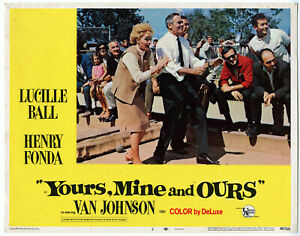 LUCILLE BALL, HENRY FONDA • YOURS, MINE AND OURS Lobby Card #2 • 1968 • FINE •