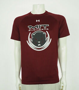 Under Armour Team MIT Engineers Red Loose Tee Shirt Mens Small