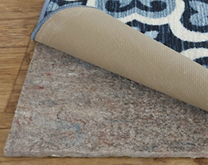 Mohawk Home Dual Surface Felt and Latex Non Slip Rug Pad, 9'x12', 1/4 Inch Safe