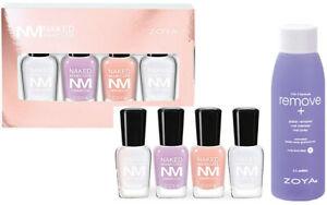 Zoya Naked Manicure Women: Base,Glossy Seal,Pink,Lavender .25 oz & 2 oz Remover