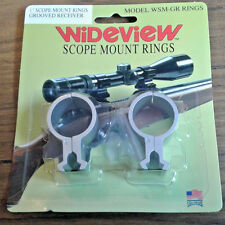 """WIDEVIEW SCOPE MOUNT 22 & air gun grooved receiver clamp style for 1"""" scopes slv"""