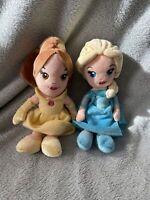 "Disney Princess Soft Toy Bundle - Elsa & Belle - 8"" - Posh Paws"