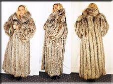 New Silver Shadow Fox Fur Coat Size Large 10 12 L Efurs4less