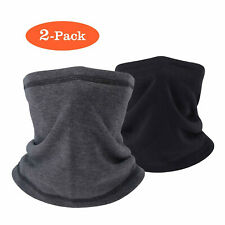 2pcs Fleece Neck Gaiter Warmer Face Mask for Cold Weather Winter Outdoor Sports