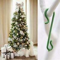 50 Pcs Christmas Tree Hooks Bauble Ornament Hangers Hanging Decoration Wires UK
