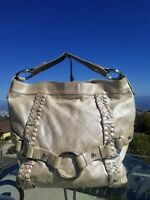 Isabella Fiore Carina Gold Hobo, Shoulder Bag, Stainless Hardware Handbag, Purse