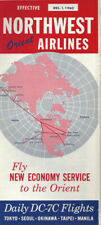 Northwest Orient Airlines system timetable 12/1/60 [0098]