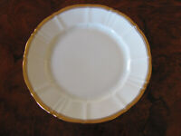 Bing & Grondahl B&G -White,Fluted, Gold Trim-Bread & Butter Plate(s)-10 Avail