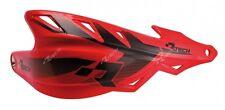 Coppia Paramani Racetech Raptor Rosso Universali Rtech Handguards Enduro Motard