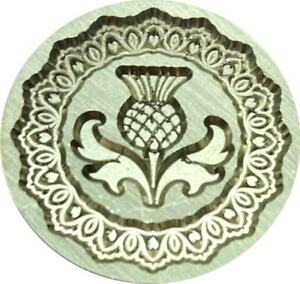 """Scottish Thistle inside Intricate Border - 1"""" Wax Seal Stamp with wood handle"""