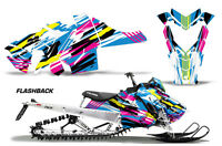 Snowmobile Graphics Kit Decal Sticker Wrap For Polaris Axys SKS 15-16 FLASHBACK