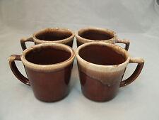 "Vtg Nelson McCoy BROWN DRIP Glaze 4 ""D"" Handle Coffee Coffee Mug 8 oz 3 1/2"" USA"