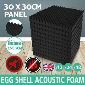 12/24/48 Acoustic Wall Panel Tiles Studio Sound Proofing Insulation Foam Pads