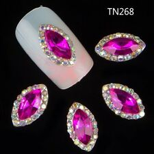 2 St. 3D  Overlays Nagelschmuck Deko Nail  Kristall Steine pink TN 268