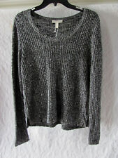Eileen Fisher Scoop Neck Sweater -Shimmer Karma Stretch - Ash- Size PL- NWT $298