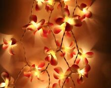 Pink Frangipani Fairy LED light wedding table runner centrepiece battery power