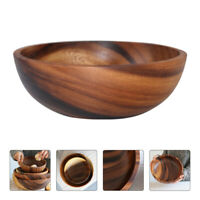 Wooden Mixing Bowl Salad Serving Bowl Kitchen Fruit Snack Dessert Bowls