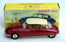 DINKY TOYS/ATLAS CITROEN DS 19-Modèle Année de construction 1955-1967, M. 1:43, rouge foncé, neuf dans sa boîte
