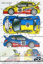 STUDIO 27 PEUGEOT 206 WRC #46 MICHELIN GB 2002 RALLY DECAL for TAMIYA 1/24