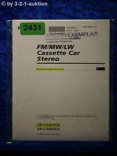 Sony Bedienungsanleitung XR C540RDS /C440RDS Car Stereo (#2431)