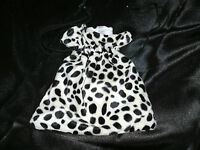 Dalmation Bag - Cruella Faux Fur Fancy Dress Accessory - NEW