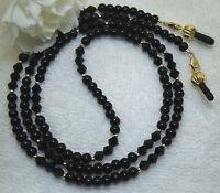 Eyeglass Chain Black Onyx & Black Crystal Gold (2924) Lanyard