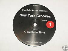 """DJ RALPHIE DEE new york grooves beats in time the heat 12"""" RECORD"""