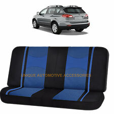 BLUE BLACK POLY MESH NET 2PC SPLIT BENCH SEAT COVER for SUBARU TRIBECA FORESTER