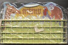 Parrot Giraffe Monkey Memo Sheets in Wire Basket