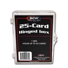 5 - 25 ct count Hinged Case Holder for Regular or Thick Cards, Snap Closure, BCW