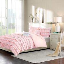 New Full/Queen Waterfall Comforter Set Micro Fiber Brown Pink Intelligent Design