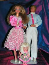 BARBIE, KEN  et SHELLY vintage    heart family 1985