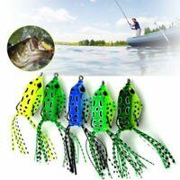 1/5pcs Fishing Lures Topwater Frog Crankbait Tackle Bass Soft Swimbait Hard Bait