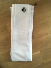 1 pair of Suedine Cream Eyelets Curtains 166cm Wide x 138cm Drop Lined