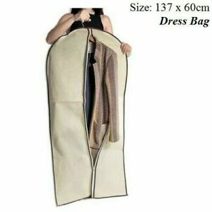 DRESS BAG COVER CLOTHES GARMENT STORAGE LONG TRAVEL ZIP DUST PROTECTOR BAGS UK