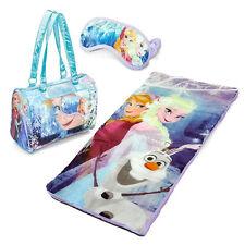 Disney Frozen Slumber Bag Elsa Anna & Olaf Sleeping Bag Sleepover Kids Set 3 pc