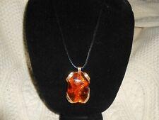 Irish Celtic Golden Amber Necklace