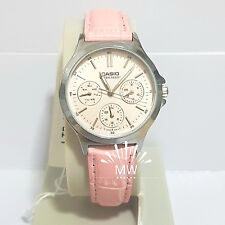Authentic Casio Ladies' Standard Analog Leather Watch LTPV300L-4A LTP-V300L-4A
