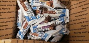 107 ASSORTED PURE PROTEIN  ENERGY PROTEIN BARS LQQK!!! NO RESERVE