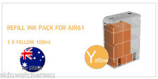 Yellow Replacement Ink Tank with ink for AIR60,61,62,63 Auto Ink Refill machine