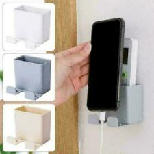 Wall Mounted Storage Case Box Remote Control Phone Plug Holder Stand Container J